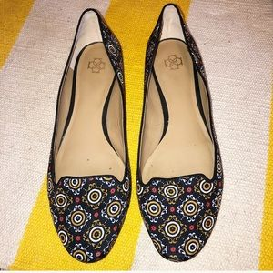 Ann Taylor Black Patterned Loafers